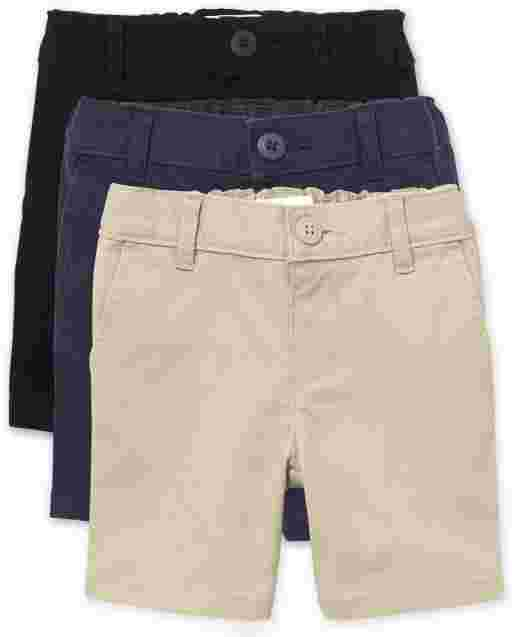 Baby And Toddler Girls Uniform Woven Chino Shorts 3-Pack