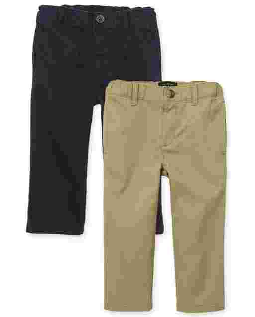 Baby And Toddler Boys Woven Skinny Chino Pants 2-Pack
