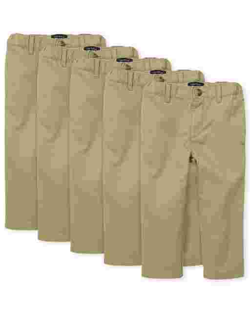Baby And Toddler Boys Woven Skinny Chino Pants 5-Pack