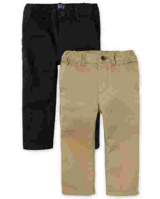 Toddler Boys Woven Stretch Skinny Chino Pants 2-Pack