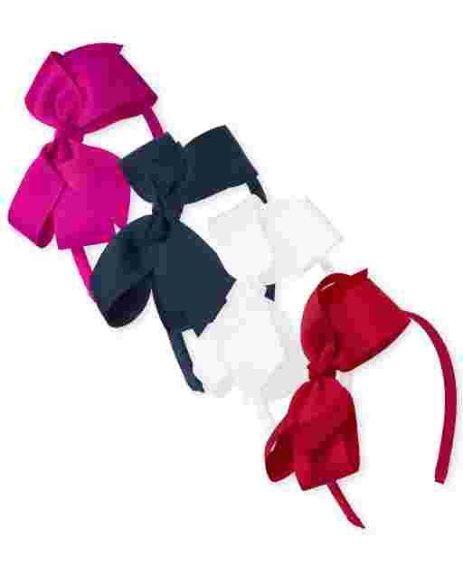 Girls Uniform Bow Headband 4-Pack
