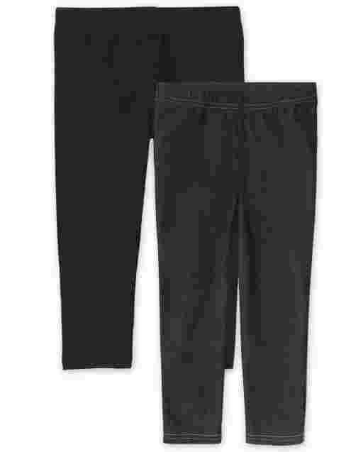 Girls Knit Capri Leggings 2-Pack