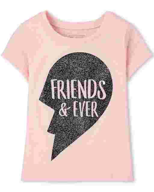' Friends And Ever ' Best Friends de manga corta para bebés y niñas pequeñas
