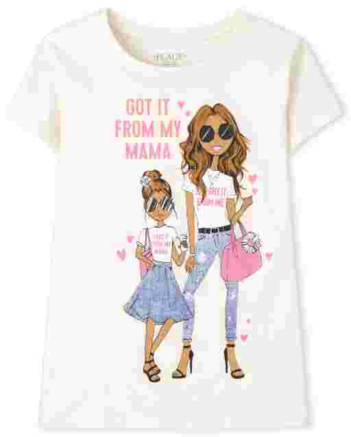 Girls Short Sleeve Got It From My Mama Graphic Tee