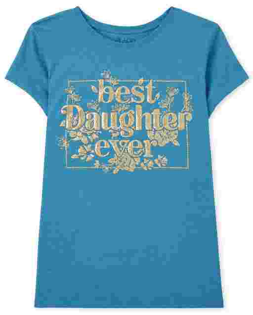 Camiseta de manga corta para niñas ' Best Daughter Ever '