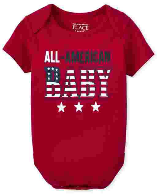 Unisex Baby Matching Family Short Sleeve Americana All American Baby Graphic Bodysuit