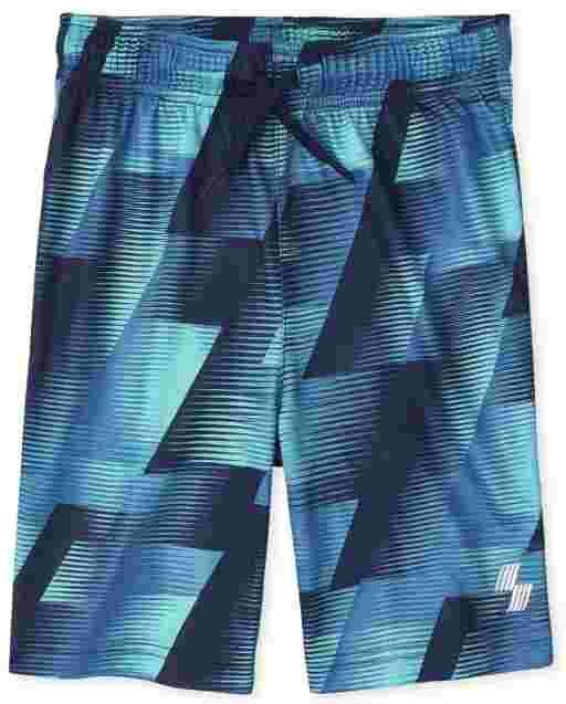 Boys PLACE Sport Print Knit Performance Basketball Shorts