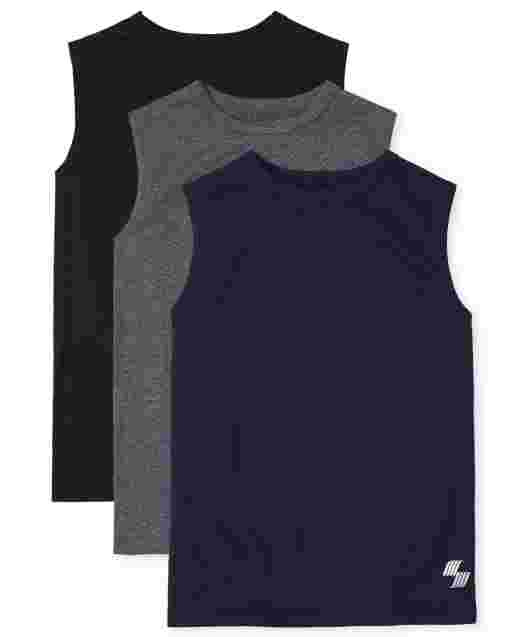 Boys PLACE Sport Sleeveless Performance Muscle Tank Top 3-Pack