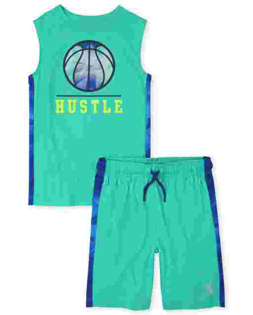 Boys PLACE Sport Sleeveless Video Game Muscle Tank Top And Knit Basketball Shorts 2-Piece Performance Set