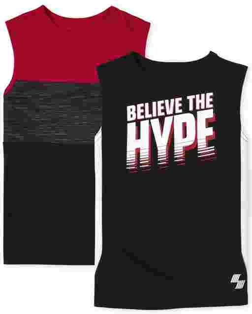Boys PLACE Sport Sleeveless Performance Muscle Tank Top 2-Pack