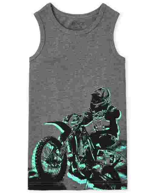 Boys Mix And Match Sleeveless Graphic Tank Top