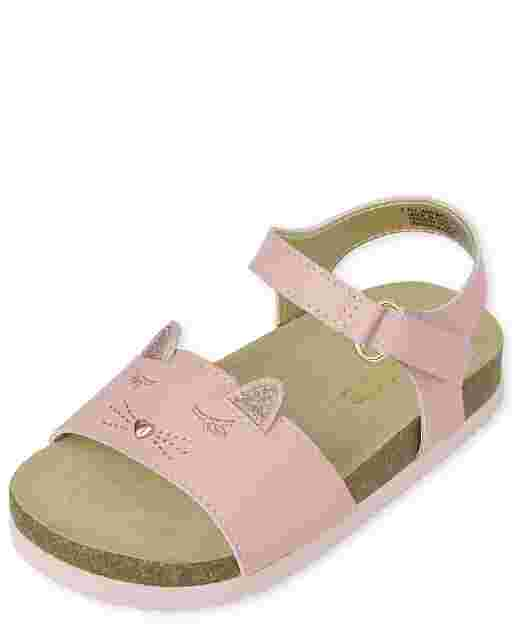 Sandalias de gato para niñas pequeñas