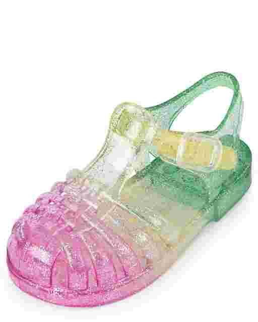 Toddler Girls Rainbow Jelly Sandals
