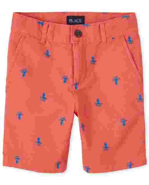 Boys Woven Print Chino Shorts
