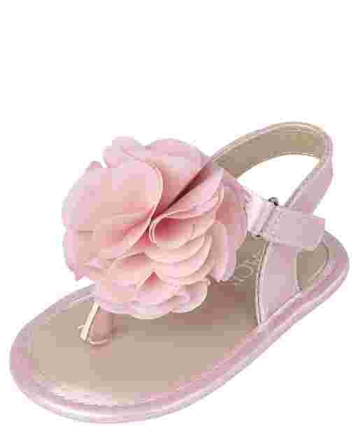 Sandalias de flores para niñas bebés