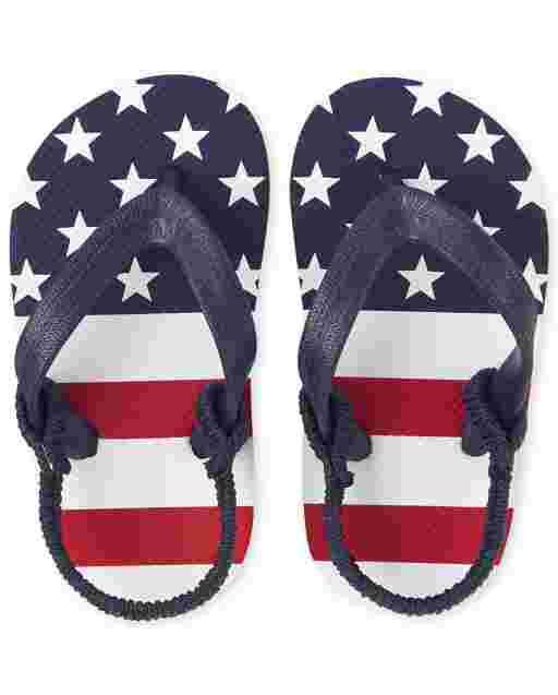 Toddler Boys Americana Flip Flops