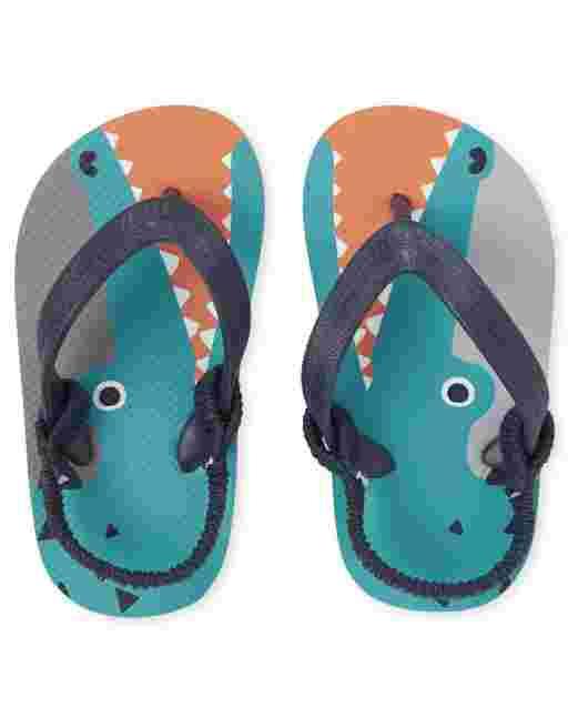 Toddler Boys Alligator Flip Flops