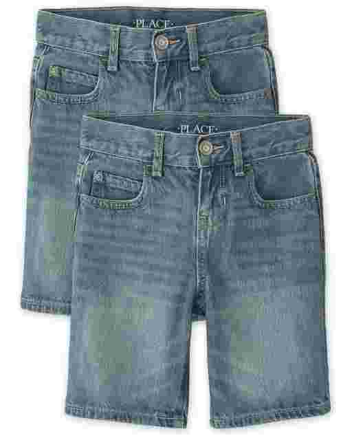 Boys Five-Pocket Denim Shorts 2-Pack