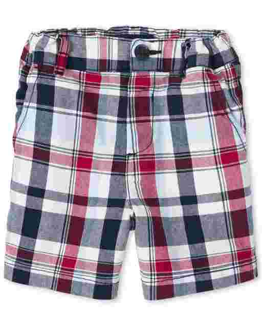 Baby And Toddler Boys Plaid Woven Chino Shorts
