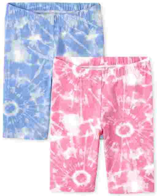 Girls Mix And Match Print Knit Bike Shorts 2-Pack