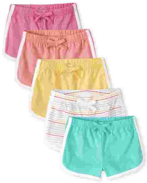 Baby Girls Knit Dolphin Shorts 5-Pack