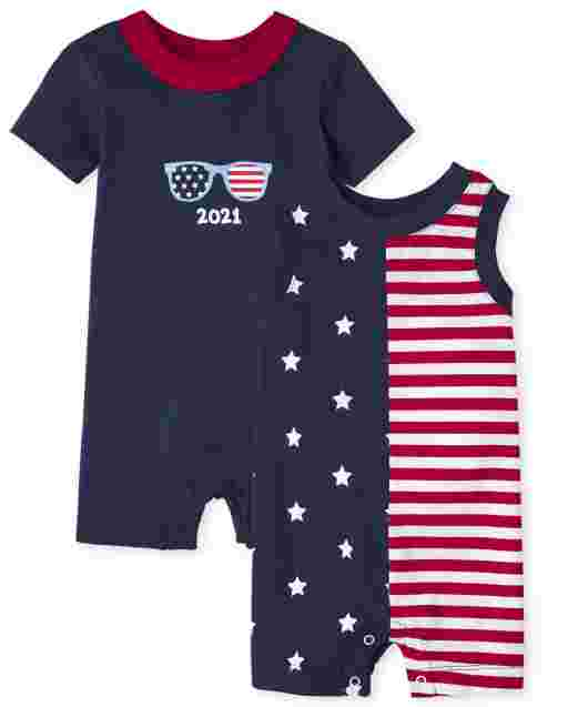 Baby Boys Americana Knit Romper 2-Pack