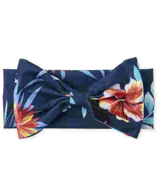 Baby Girls Tropical Bow Headwrap
