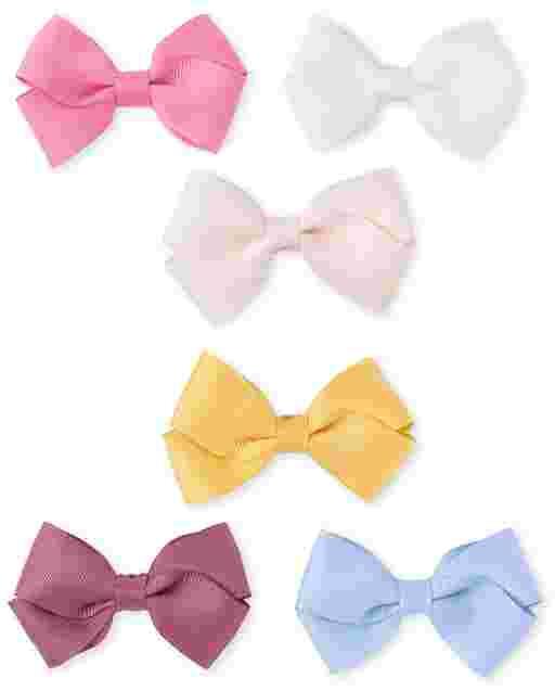 Girls Bow Hair Clip 6-Pack