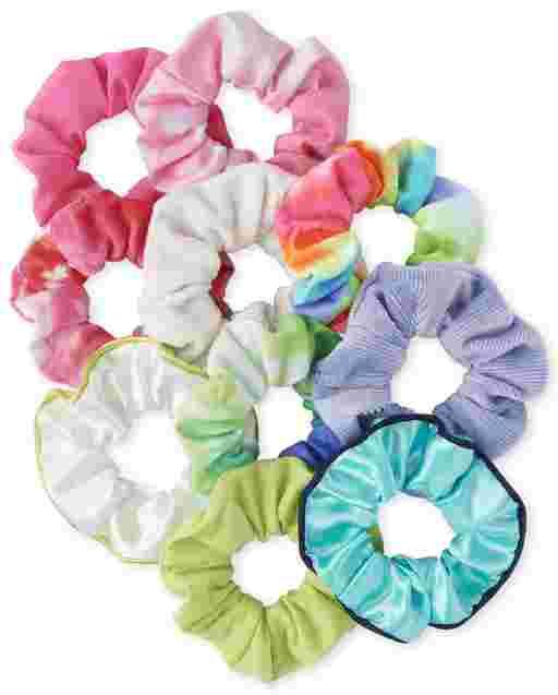 Girls Tie Dye Scrunchie 10-Pack