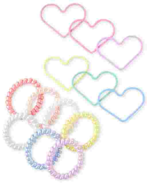 Paquete de 13 pulseras en espiral para niñas