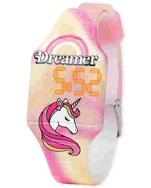 Reloj digital Unicorn Tie Dye para niñas