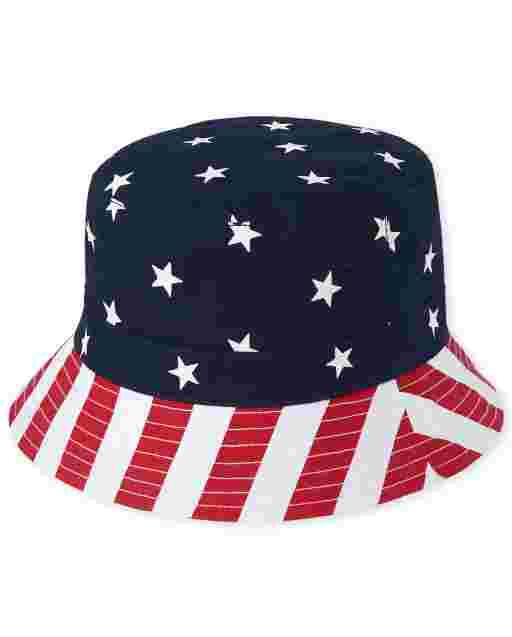 Sombrero de pescador reversible americana para niño