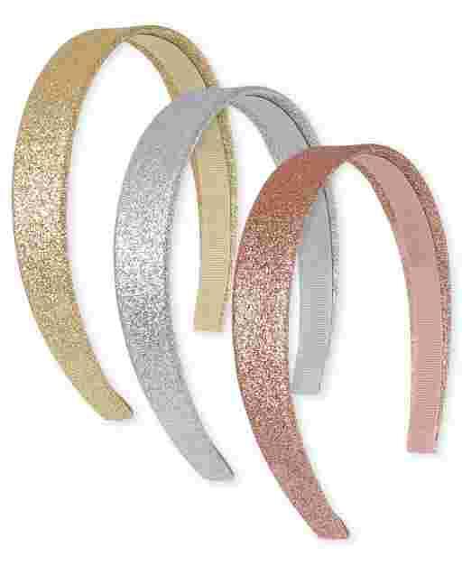 Girls Glitter Headband 3-Pack