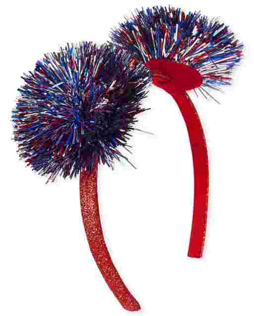 Diadema Americana con Pompones para Niñas