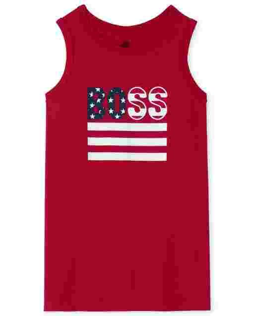 Camiseta sin mangas Americana Boss para niños