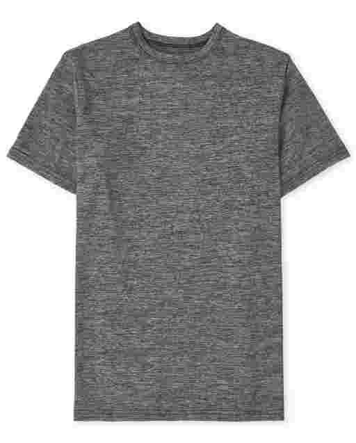 Boys Uniform Short Sleeve Marled Top