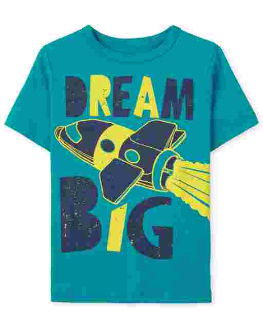 Baby And Toddler Boys Short Sleeve Dream Big Graphic Tee