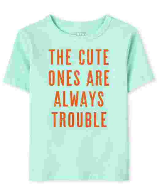Baby And Toddler Boys Short Sleeve The Cute Ones Are Always Trouble Graphic Tee
