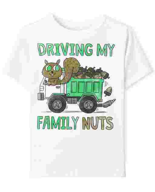 Baby And Toddler Boys Shor Sleeve Driving My Family Nuts Graphic Tee