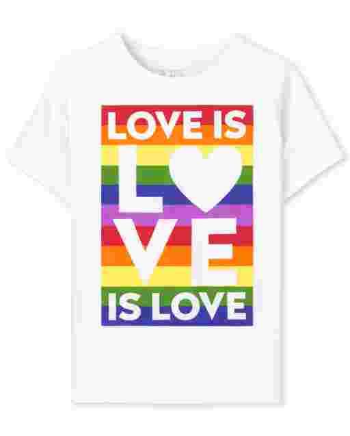Camiseta unisex con estampado de orgullo familiar a juego para bebés y niños pequeños