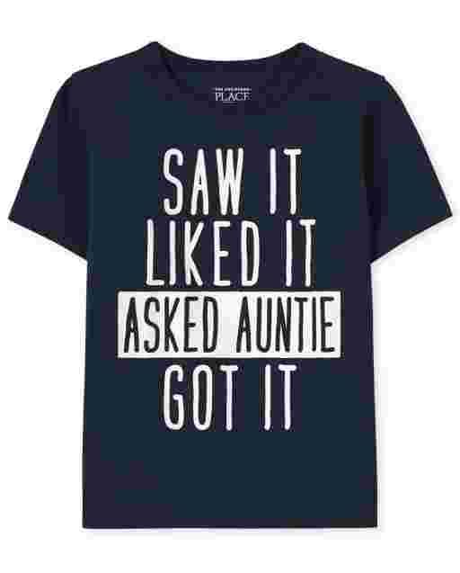 Camiseta estampada Auntie para bebés y niños pequeños