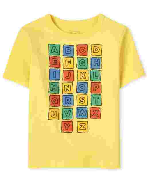 Baby And Toddler Boys Short Sleeve ABC Graphic Tee
