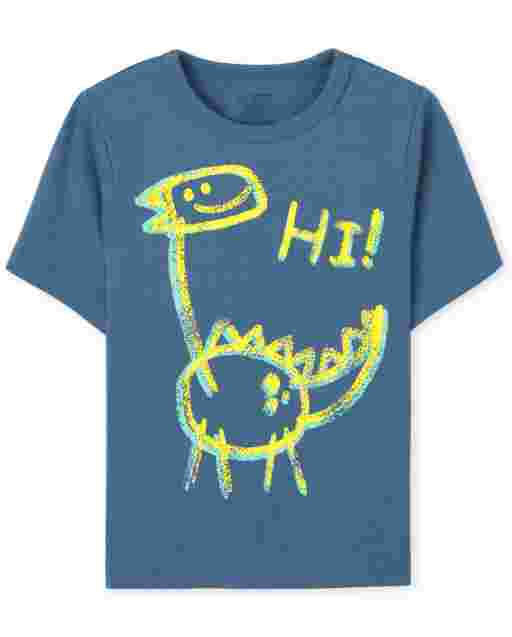 Baby And Toddler Boys Short Sleeve Dino Doodle Graphic Tee
