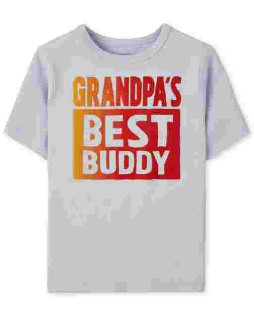 Baby And Toddler Boys Short Sleeve Grandpa's Best Buddy Graphic Tee