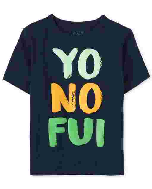 Baby And Toddler Boys Short Sleeve Yo No Fui Graphic Tee