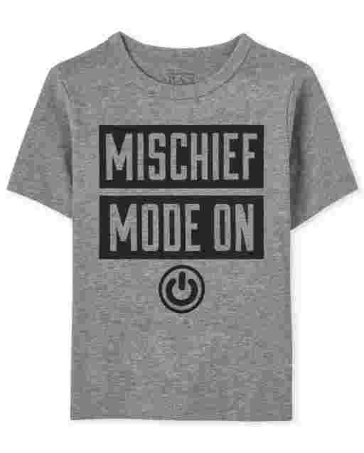 Baby And Toddler Boys Short Sleeve Mischief Mode On Graphic Tee