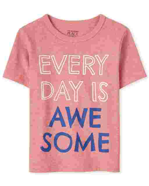 Baby And Toddler Boys Short Sleeve Every Day Is Awesome Graphic Tee