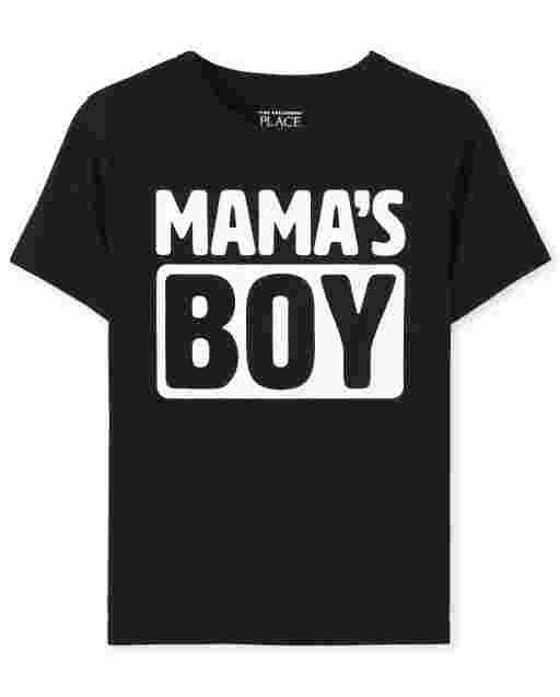 Baby And Toddler Boys Short Sleeve 'Mama's Boy' Graphic Tee