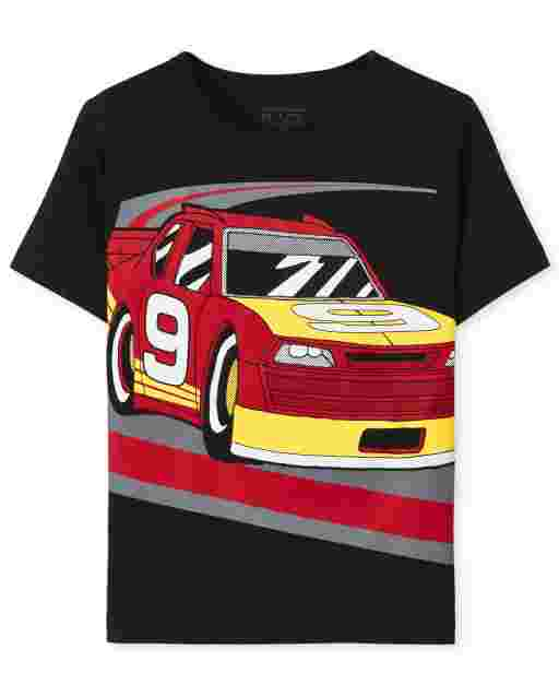 Baby And Toddler Boys Short Sleeve Race Car Graphic Tee