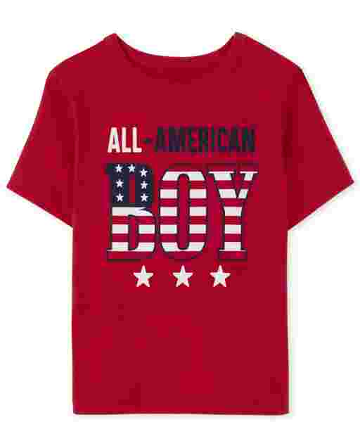 Baby And Toddler Boys Matching Family Short Sleeve Americana All American Boy Graphic Tee